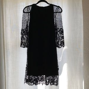 Zara Black Lace Cocktail Dress